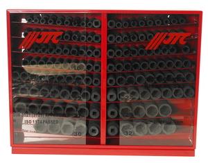 """Набор головок торцевых 1/2"""" 6-ти гранных 10-32мм ударных в металлическом шкафу 137 предметов JTC"""